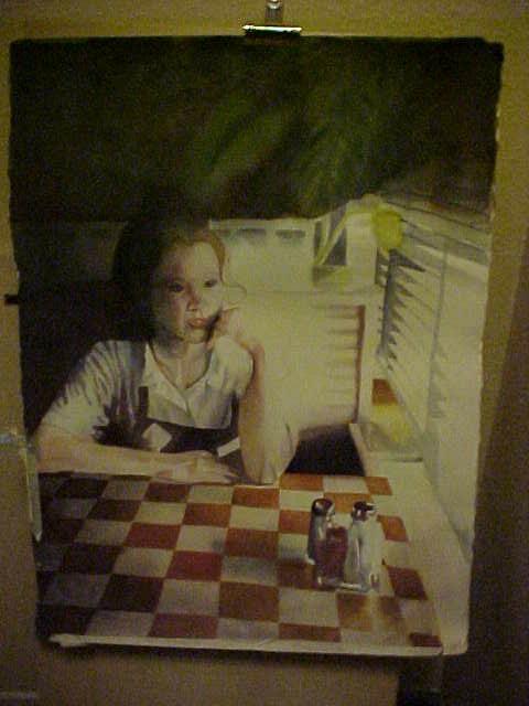 Waitress_in_Orlando_Watercolor